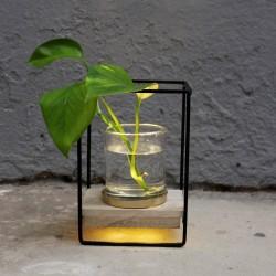 Blumentopf Windlicht LED modern