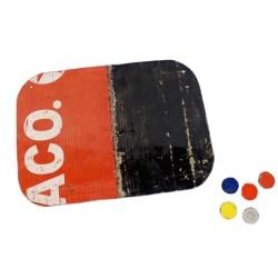 Magnetboard Brett mit Magneten aus Ölfässern