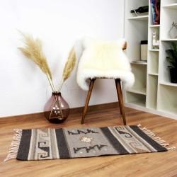 Deko Teppich Vintage aus Wolle und Naturfarben Adrian