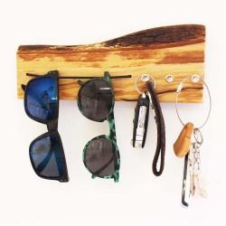 Sonnenbrillen-Aufhänger & Schlüsselbrett miit Rinde