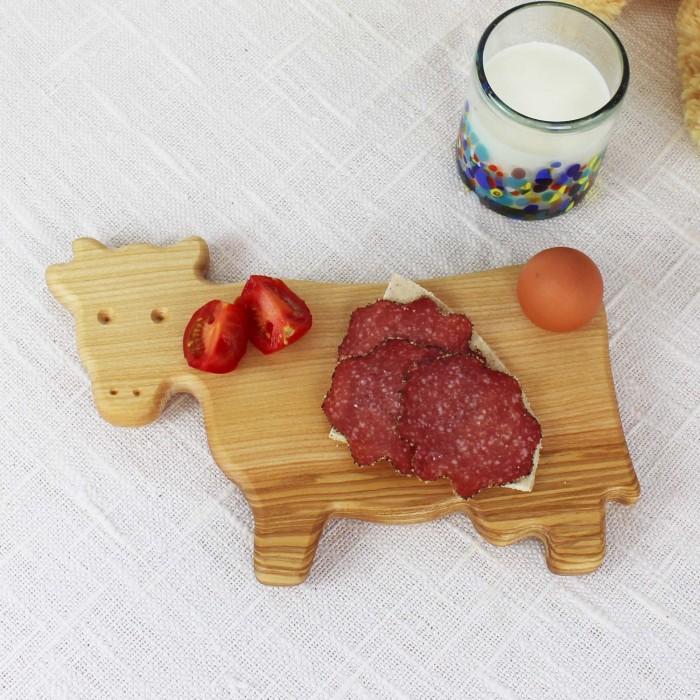 Frühstücksbrettchen Tiermotiv Kuh