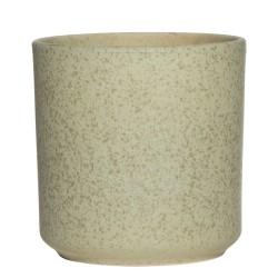 Blumentopf beige aus Keramik