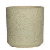 Blumentopf grün aus Keramik groß