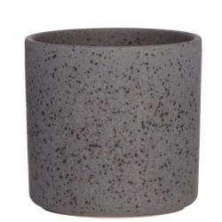 Blumentopf schwarz aus Keramik
