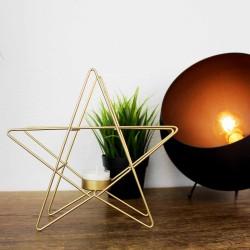 Kerzenhalter aus Metall Star