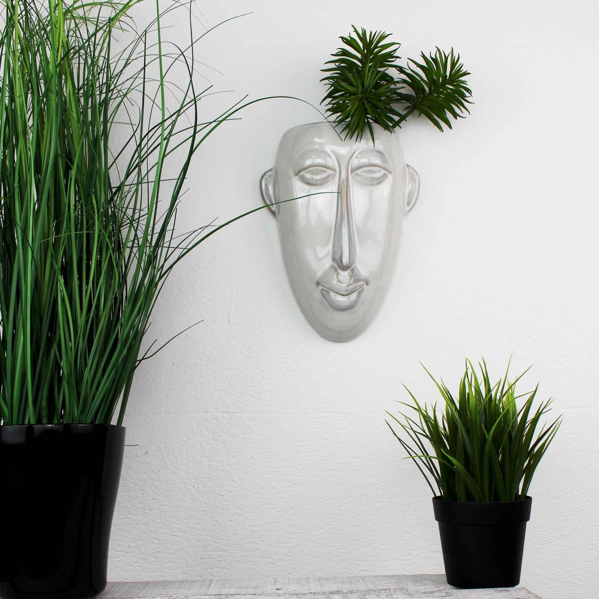Blumentopf Hangend Wanddeko Mask Weiss Kaufen