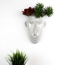 Pflanzentopf Mask weiss