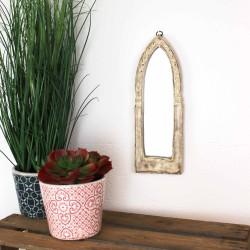 Spiegel klein aus Holz weiss