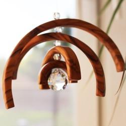 Pendel aus Holz | Fenster Deko Kristall