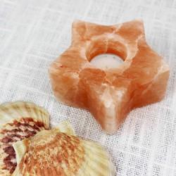 Salzkristall Teelichthalter Stern