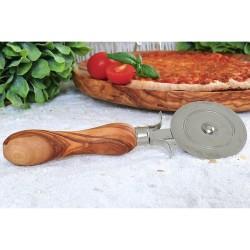 Pizzaschneider mit Griff aus Olivenholz