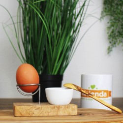 Eierbecher mit Eierlöffer aus Olivenholz, Set