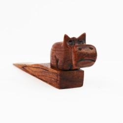 Türstopper aus Holz Nilpferd