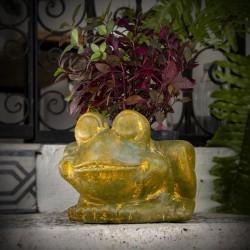 Blumentopf aus Ton Frosch