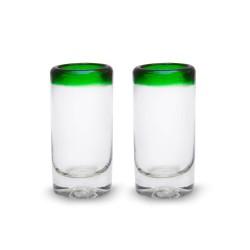 Schnapsglas 2er Set Caballitos grün