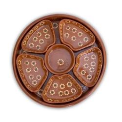 7 tlg. Dipschalen Set aus Ton rund aus Mexiko