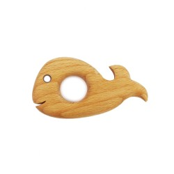 Eierbecher Tiermotiv Wal aus Holz