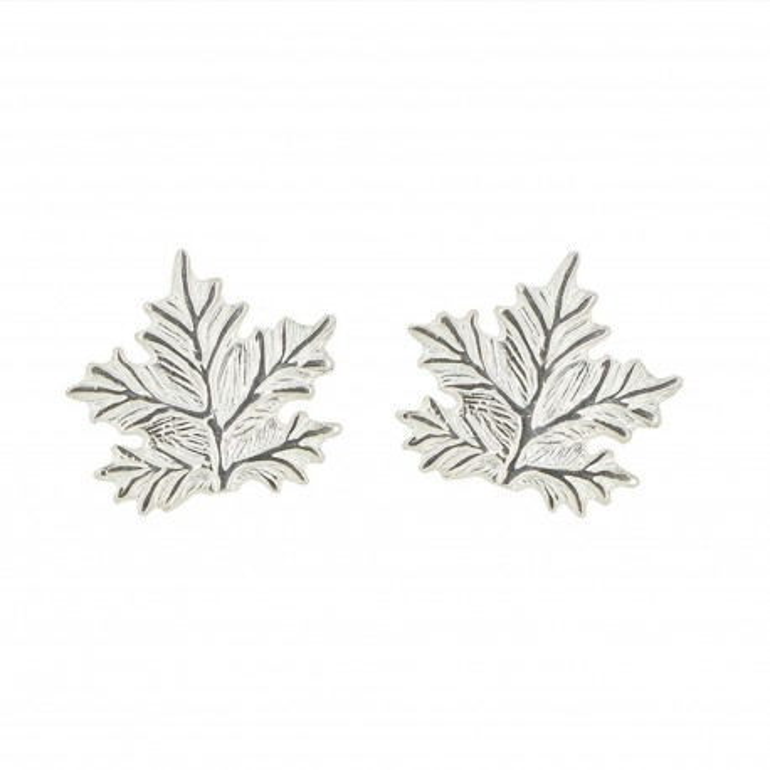 Ohrhänger Ahorn Herbst, 950er Silber
