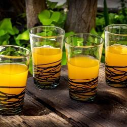 Gläser 4er Set Filos schwarz | Mundgeblasenes Glas