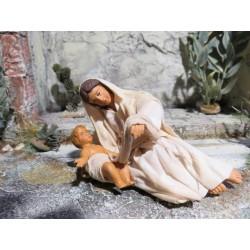 Maria liegend mit Jesukind
