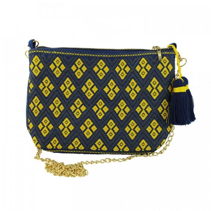 Handtasche blau und gelb - Juanita