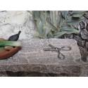 Krippenzubehör Schere grau 2,5cm