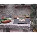 Krippenzubehör Waage aus Metall und Holz 5cm