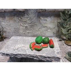 6 Melonenstücke