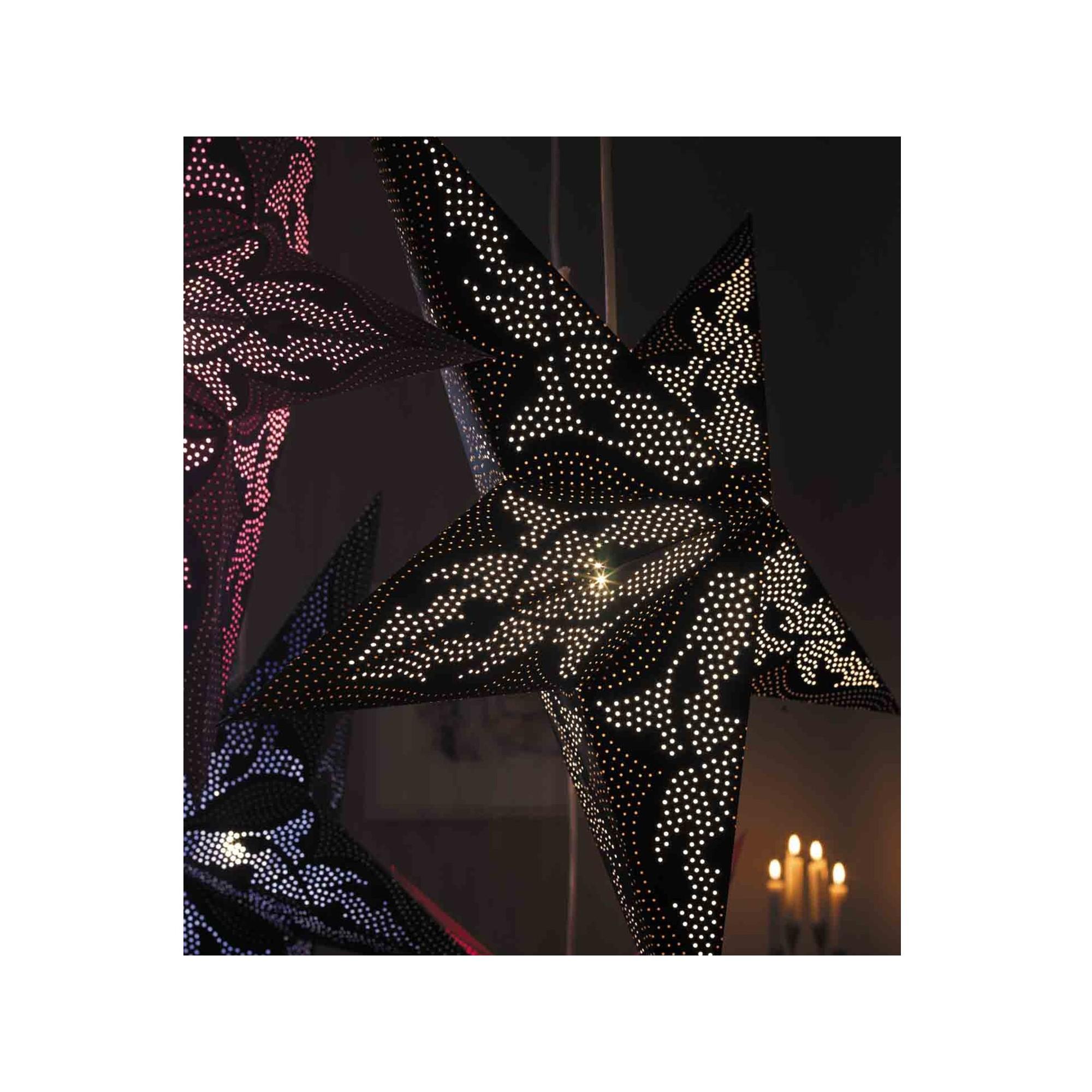 Papierstern beleuchtet weihnachtsstern damaskus kaufen - Stern beleuchtet weihnachten ...