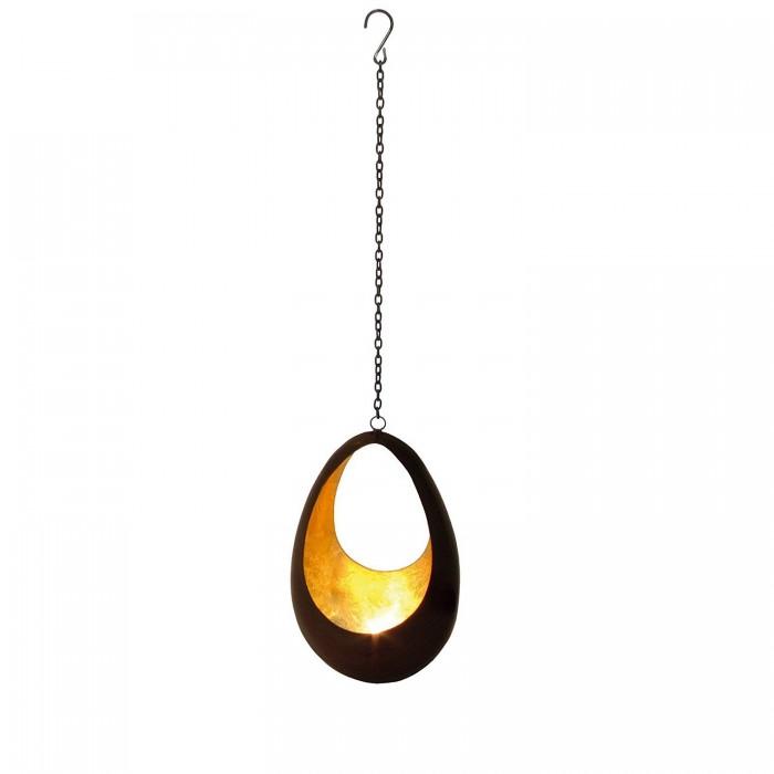 Teelichthalter | Teelichtschale Flame bronzen/golden