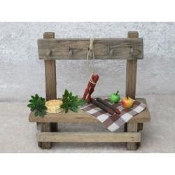 Marktstand mit Wurst/Käse