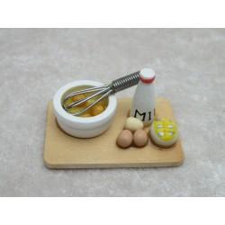 Brett mit Milch,Eier