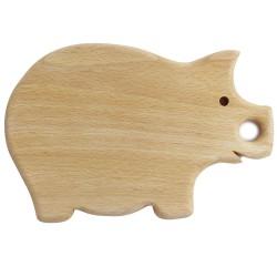 Frühstücksbrett Schwein aus Holz